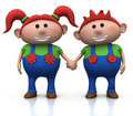 Red-haired twins Stock Image
