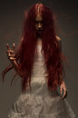 Red haired zombie woman Royalty Free Stock Photo