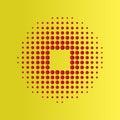 Red Halftone circles background, halftone dot pattern.