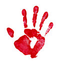 Red Hand Print Royalty Free Stock Photo