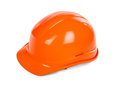 Red hard hat on white Stock Images