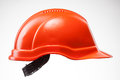 Red hard hat  on white Royalty Free Stock Photo