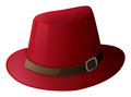 A red hat with a brown belt illustration of on white background Royalty Free Stock Photo