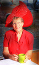 Red Hat Lady Royalty Free Stock Photo