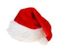 Red hat van santa claus op witte achtergrond Royalty-vrije Stock Afbeeldingen