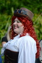Red head steam punk Stock Images