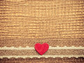 Red Heart On Abstract Cloth Ba...