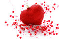 Red heart ball Stock Image