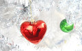 Red heart ball christmas day Royalty Free Stock Photo