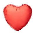Red heart balloon isolated on white clipping path included Stock Photo