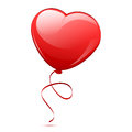 Red heart balloon vector illustration of Stock Photography