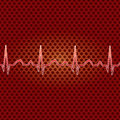 Red heart beat. Royalty Free Stock Photography
