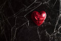 Red heart on a black background Royalty Free Stock Photo