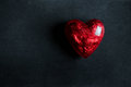 Red heart on a black background Royalty Free Stock Photography