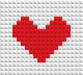 Red heart of blocks Stock Photos