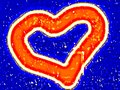 Red heart on a blue background for the Mothers  Day, Valentines Day.  Oil paint effect. Vector. Royalty Free Stock Photo