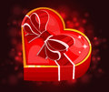 Red heart box vector illustration Royalty Free Stock Images