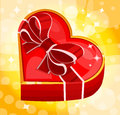 Red heart box vector illustration Stock Photography