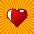 Red heart and burst Royalty Free Stock Photo