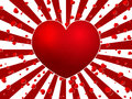 Red heart burst lovely background Royalty Free Stock Photography