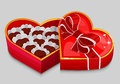 Red heart candy box vector illustration Royalty Free Stock Photo