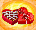 Red heart candy box vector illustration Royalty Free Stock Image
