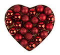 Red heart of the christmas ball Royalty Free Stock Images