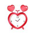 red heart clock