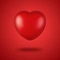 Red heart close up of valentines isolated on background Royalty Free Stock Image