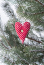 Red heart cute love symbol Stock Images