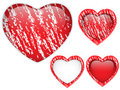 Red Heart Glass Chalk for Valentine's Day Royalty Free Stock Photos