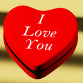 Red Heart With I Love You Stock Image