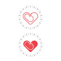 Red heart icon.Love and Heart Care logo.Heart shape