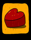 Red heart illustration Royalty Free Stock Images