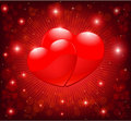 Red heart illustration Royalty Free Stock Photos