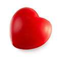 Red heart isolated on white background Royalty Free Stock Photos