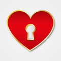 Red heart with keyhole Royalty Free Stock Photography