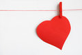 Red heart on line Stock Image