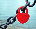 Red heart lock Royalty Free Stock Photo