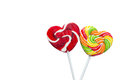 Red heart lollipop concept love valentine on white background Royalty Free Stock Photo