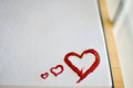 Red heart love art oil acryl paints valentine s day Stock Image
