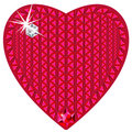 Red heart made from precious stones Royalty Free Stock Images