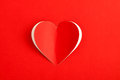 Red Heart Paper Sticker card Royalty Free Stock Photo