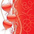 Red Heart Party Balloons Royalty Free Stock Images
