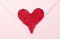 Red heart on a pink envelope Royalty Free Stock Photography