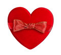 Red heart with red bow Stock Photos