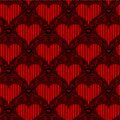 Red heart seamless Royalty Free Stock Photo