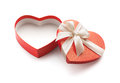 Red heart shape gift box