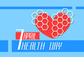 Red Heart Shape World Health Day Royalty Free Stock Photo
