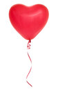 Red heart shaped balloon isolated on white background Royalty Free Stock Photography